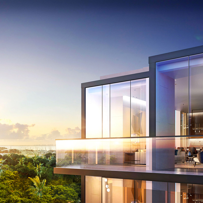 3D rendering sample of a penthouse at GlassHaus condo.