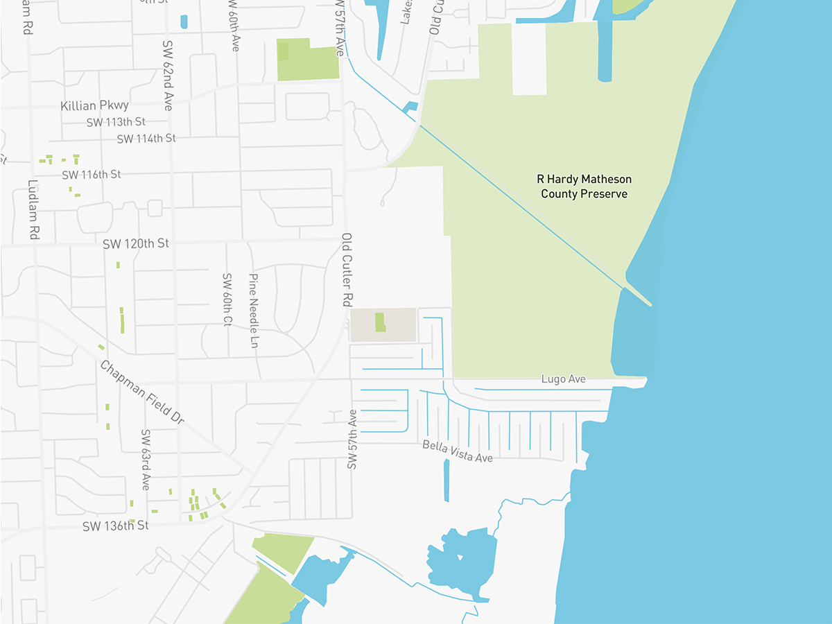 Map illustration of Pinecrest, Florida.